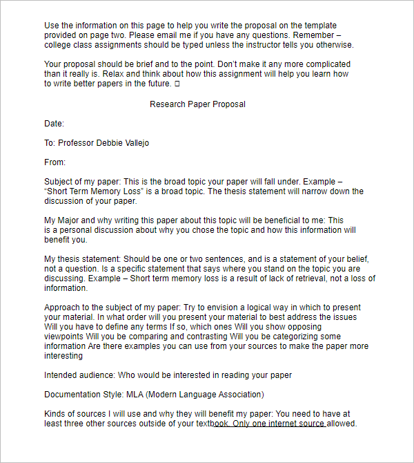 example of research paper proposal What follows is a short proposal for a paper on the rapid growth of convenience store chains in america sample proposal through my library research.