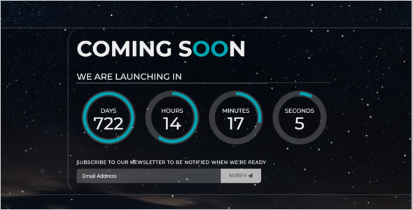 Responsive Coming Soon HTML5 Template