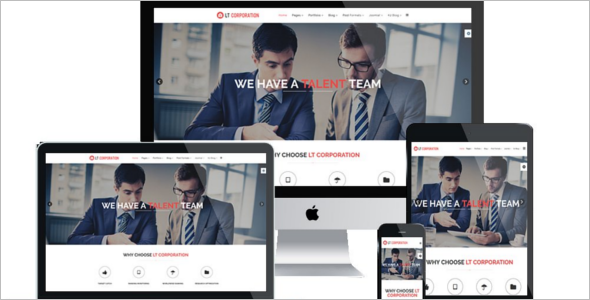 Responsive Corporation Joomla Template