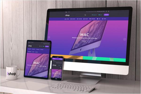 Responsive Free iMac Mockup Design