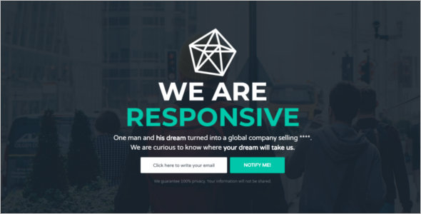 Responsive HTML Coming Soon Template