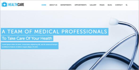 Responsive Health Website Template