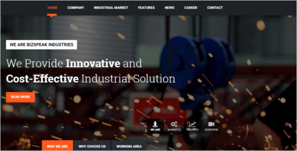 Responsive Industrial HTML5 Template