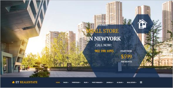 Responsive Joomla Real Estate Template