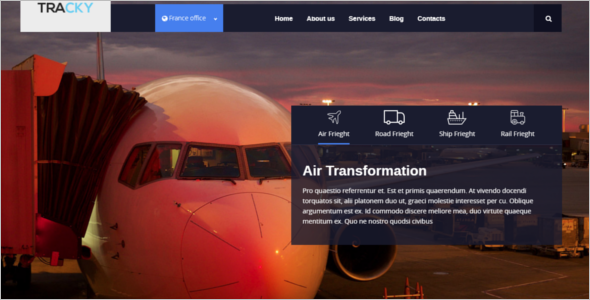 Responsive Logistic Website Template