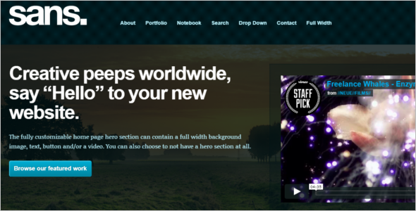 Responsive Video HTML5 Template