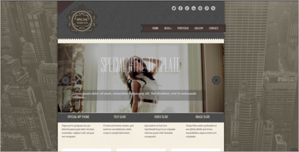 Responsive Vintage HTML5 Template