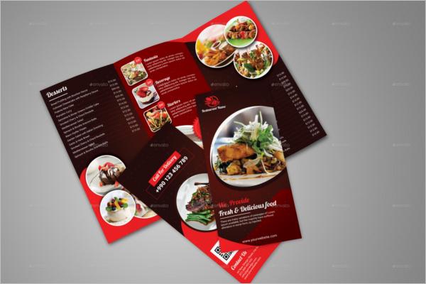 Restaurant CorelDraw Brochure Template