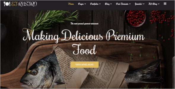 Restaurant Website Joomla Template