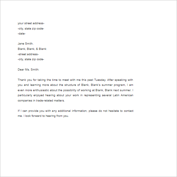 Resume Follow Up Format