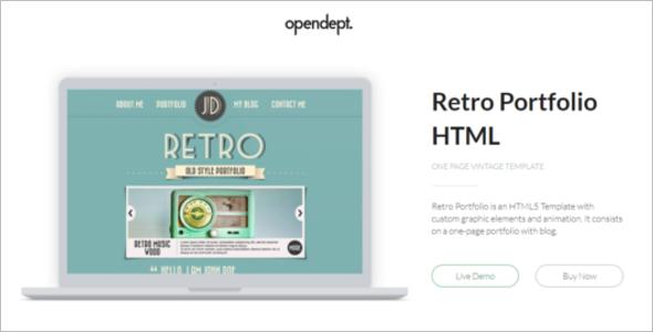Retro Vintage HTML Template