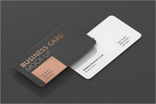 Round CornerVisiting Cards Mockup