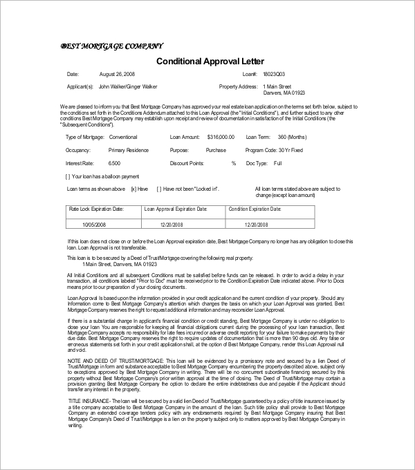 Sample Approval Letter Sample Template PDF