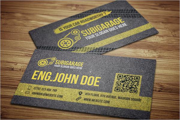 Sample Car Mechanic Business Card Design