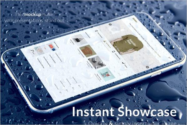 Sample Device Screen mockup