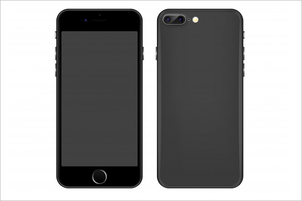 Sample Gray Mobile vector Design