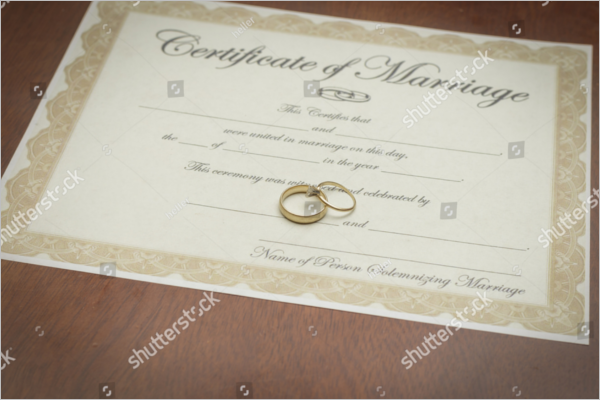Sample Marriage Certificate Template Download
