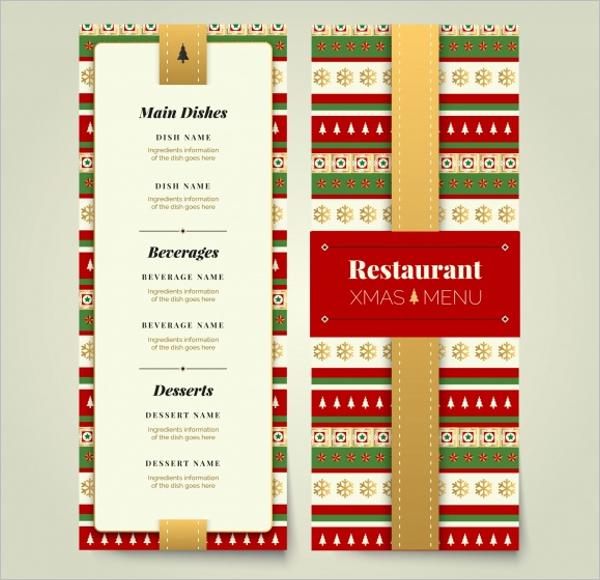 SampleParty Menu Card Design Example