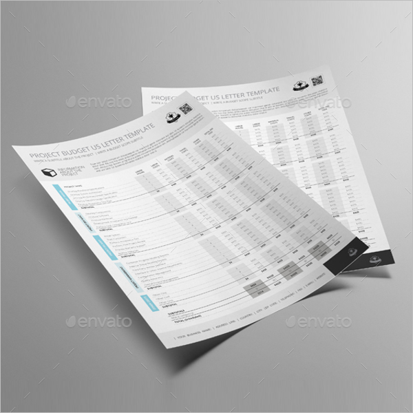 Sample Project Budget Template