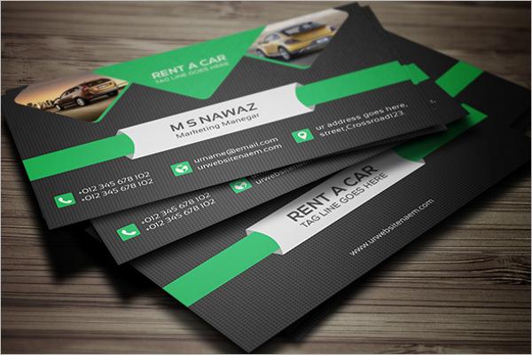 Sample Repair Business Card PSD