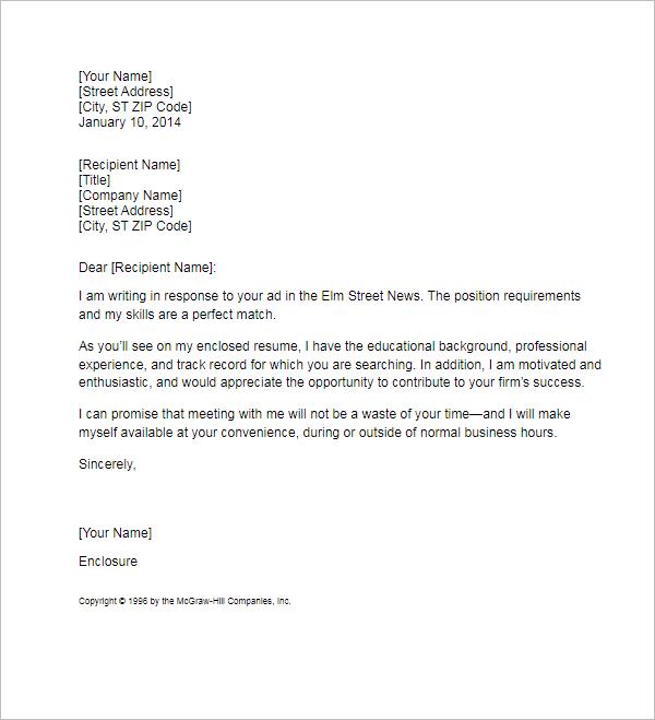 Sample Resume Cover Letter Format