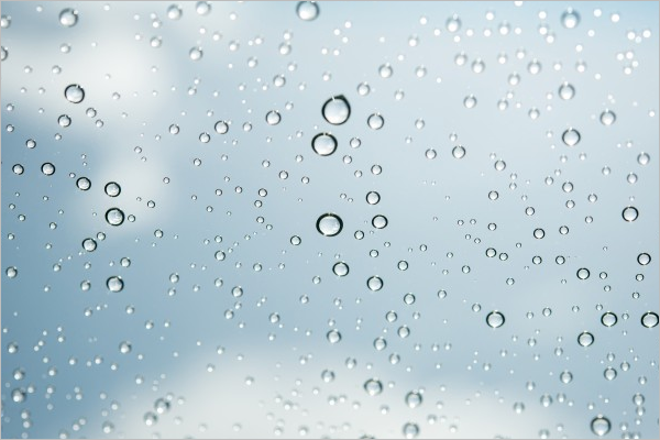 Sample Water Drop Texture Design