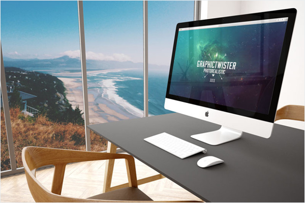 Sample iMac Mockup Template