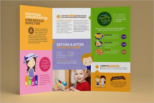 School A4 Brochure Design