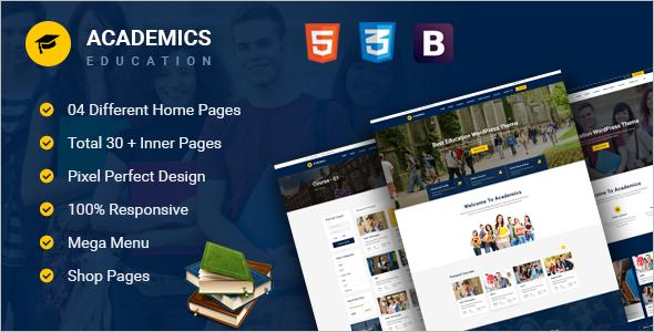 School Academic HTML5 Template