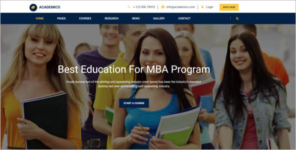 School website HTML5 Template