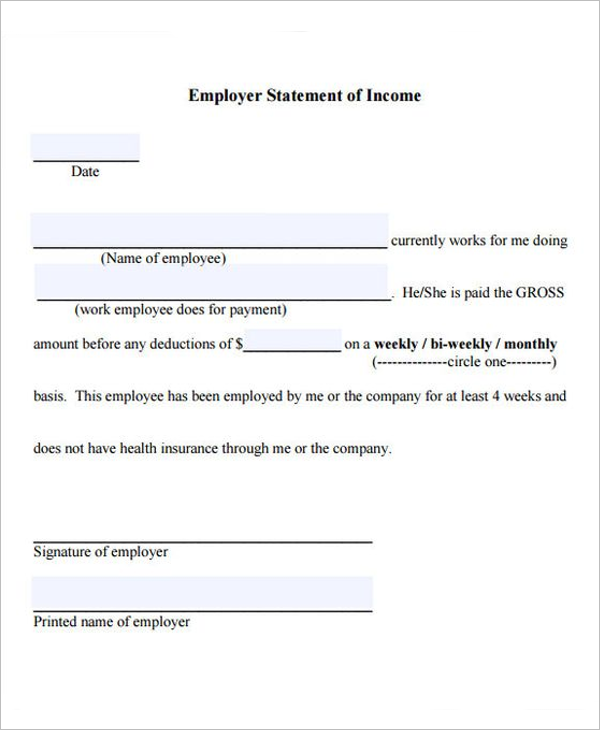 Self Employed Income Letter Template