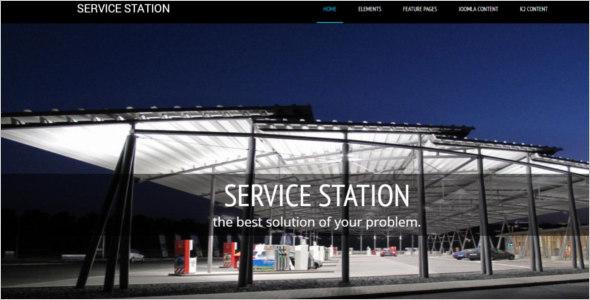 Service Station Joomla Template - $5