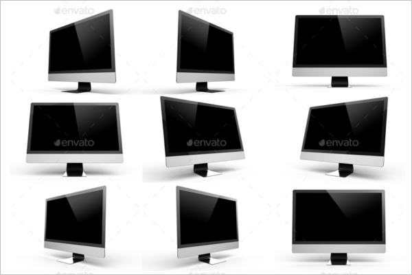 Set Of iMac Mockup Design