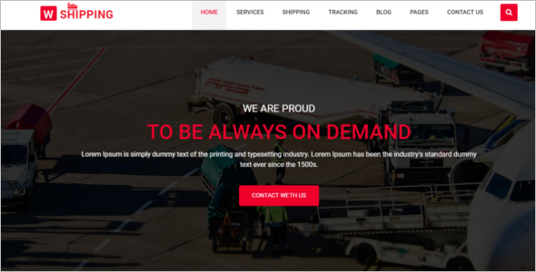 Shipping Logistics HTML5 Template