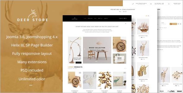 Shopping eCommerce Joomla Template