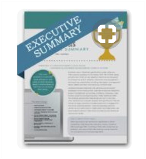 Short Executive Summary Template