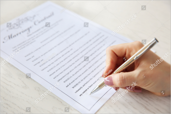 Signing Marriage Contract Sample