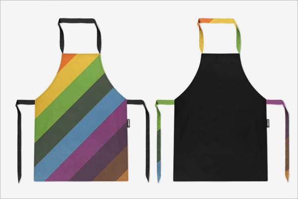 Simple Apron Mockup PSD