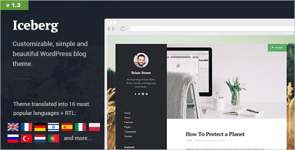 Simple Arabic WordPress Theme