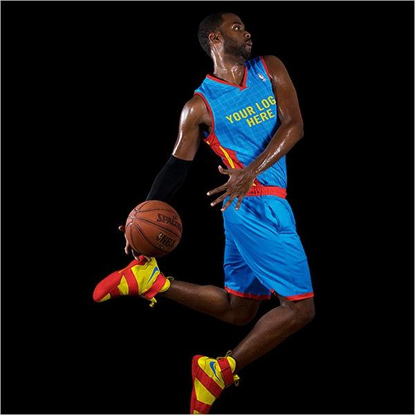 SimpleBasketball Player Mockup Design