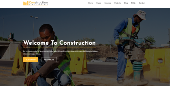 Simple Building Website Template