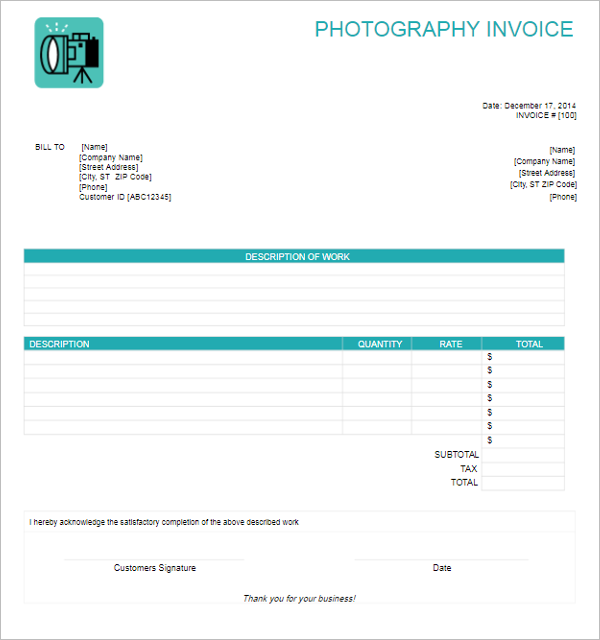 Simple Freelance Invoice Template
