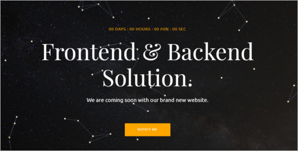 Simple HTML Coming Soon Template