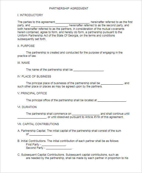 SimplePartnership Agreement Template