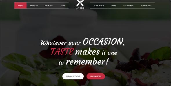 Simple Restaurant HTML5 Template