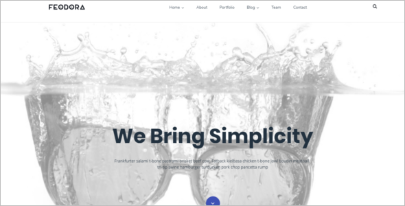 Simple Website WordPress Theme