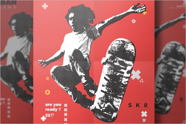Skateboard Flyer Template Free Psd