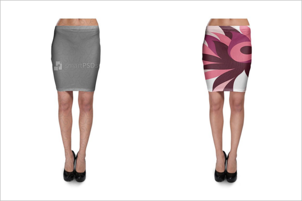 Skirt Clothing Design Mockup