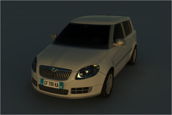 Skoda 3D Car Design