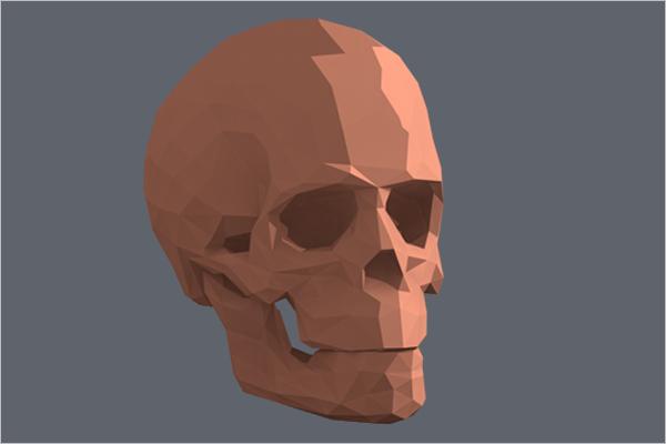 Skull 3D Model Design